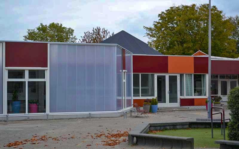 Uitbreiding Basisschool Lansingerland, de aansluiting van bestaand aan nieuw schoolgebouw