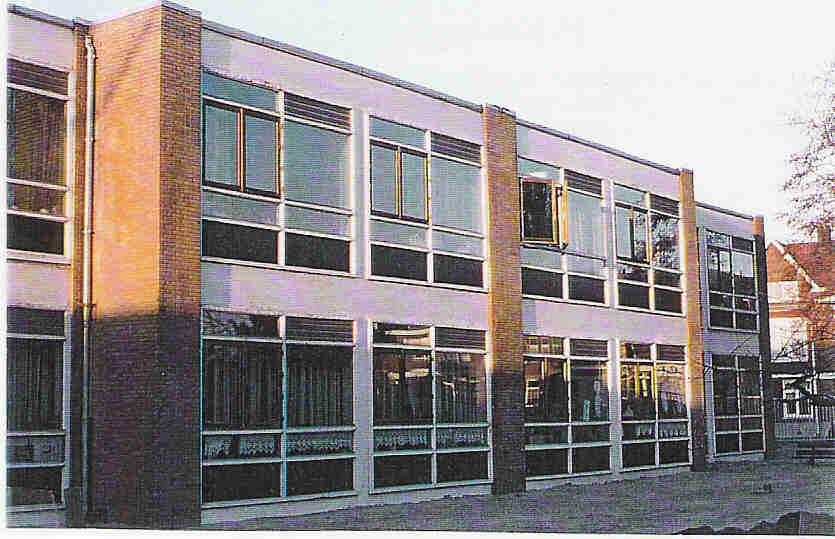 Renovatie basisschool Rotterdam, zuidgevel oorspronkelijk