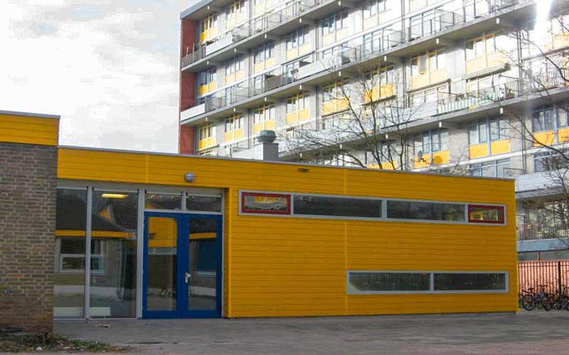Renovatie basisschool en gymzaal Rijswijk, het nieuwe aangebouwde speellokaal